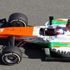 Plano superior del Force India VJM06