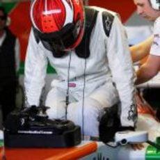 James Rossiter se sube al Force India VJM06