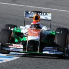 James Rossiter rueda con Force India en Jerez