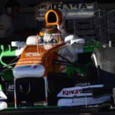 Pruebas aerodinámicas para Jules Bianchi