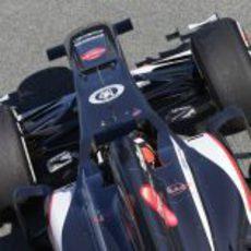 Nico Hülkenberg con el C32 en Jerez
