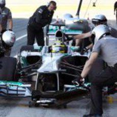Cambio de neumáticos de Nico Rosberg