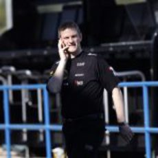 James Allison en el muro de Lotus