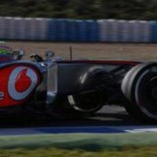 Plano corto de Sergio Pérez en Jerez