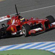 Pedro de la Rosa con Ferrari en Jerez