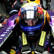 Mark Webber en Jerez con Red Bull