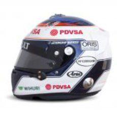 Vista lateral del casco de Valtteri Bottas