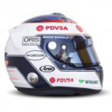 Otra vista lateral del casco de Valtteri Bottas