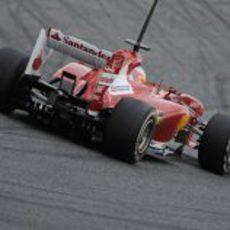 La parte trasera del Ferrari F138