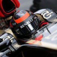 Detalle del casco de Kimi Räikkönen en el E21