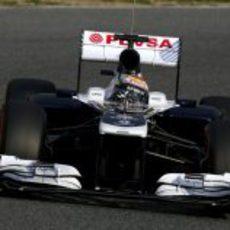 Pastor Maldonado al volante del FW35 en Barcelona