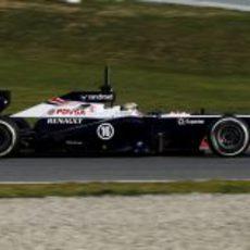 Lateral del Williams FW35 de Pastor Maldonado