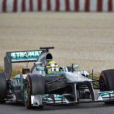 Nico Rosberg en el Circuit de Catalunya