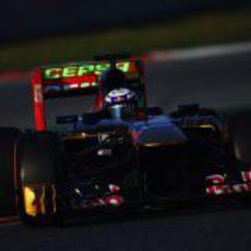 Parafina en el alerón trasero de Toro Rosso
