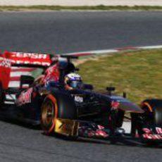 Daniel Ricciardo en el primer sector de Montmeló