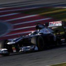 Valtteri Bottas con el FW35 en el último sector