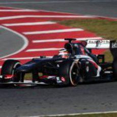 El Sauber C32, a pista