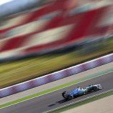 Lewis Hamilton en el Circuit de Catalunya