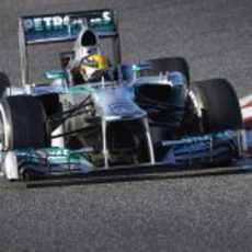 Pretemporada de pruebas para Lewis Hamilton