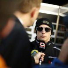 Kimi Räikkönen en rueda de prensa
