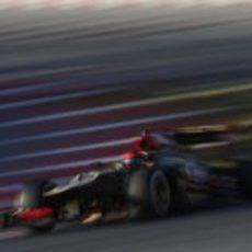 Pocas vueltas para el Lotus E21