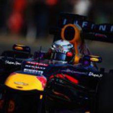 Plano medio de Sebastian Vettel
