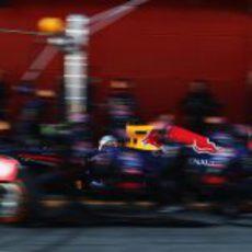 Cambio de neumáticos de Sebastian Vettel