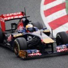Jean-Eric Vergne negocia una curva en pretemporada