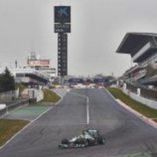 Nico Rosberg rodando en Montmeló