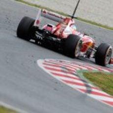 Parte trasera del Ferrari F138