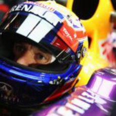 Primer plano de Mark Webber