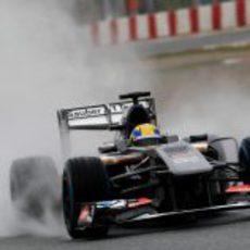 El Sauber C32 pilotado por Esteban Gutiérrez