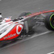 Jenson Button rodando en pretemporada