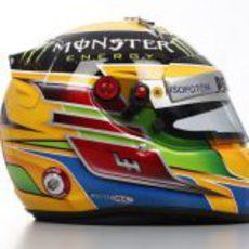 Lateral del casco de Lewis Hamilton