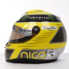 Lateral del casco de Nico Rosberg