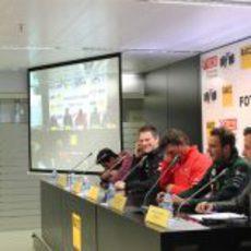 Jaime Alguersuari, James Allison, Graeme Lowdon, Giedo van der Garde y Francesc Latorre