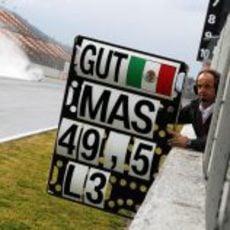 Pizarra para Esteban Gutiérrez en el Circuit de Catalunya