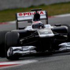 Valtteri Bottas en la chicane del Circuit de Catalunya