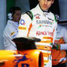 Adrian Sutil, sereno tras su confirmación como piloto titular