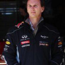 Christian Horner estuvo presente en los test de Barcelona