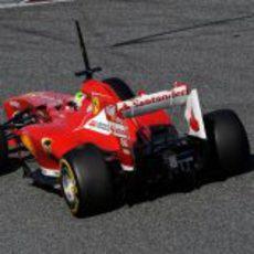 La trasera del Ferrari de Felipe Massa en los test de Barcelona