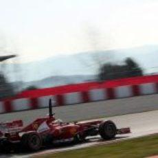 Felipe Massa probó un nuevo alerón trasero