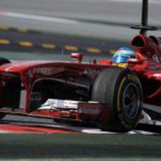Fernando Alonso pilotó su Ferrari F138 en el último día de test