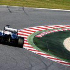 El Williams FW35 de Pastor Maldonado en el Circuit de Catalunya