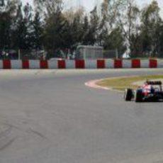 Mark Webber rodando en pretemporada