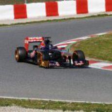 Daniel Ricciardo prueba un nuevo casco