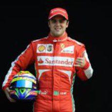 Felipe Massa hace un guiño a la cámara