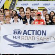 Felipe Massa, presente en un acto por la seguridad vial