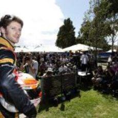 Romain Grosjean siendo fotografiado