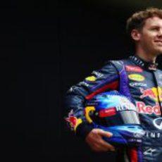 Sebastian Vettel posa en Albert Park
